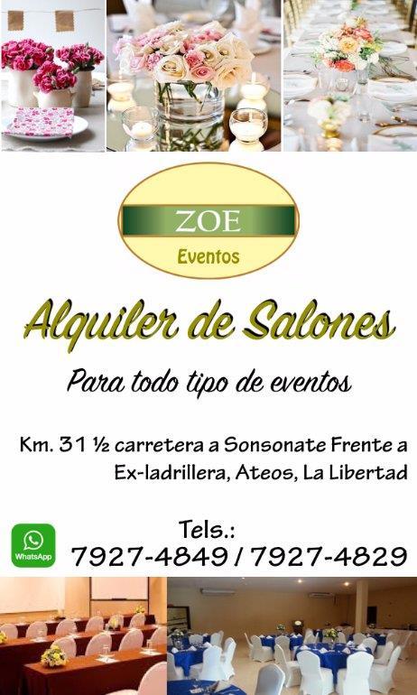 Zoe Eventos La Libertad El Salvador